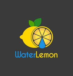 water drop lemon logo design template vector image