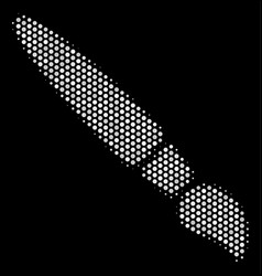 white halftone brush icon vector image