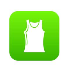 women t shirt icon green vector image