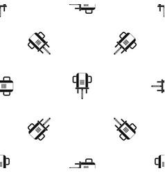 boer drill pattern seamless black vector image vector image