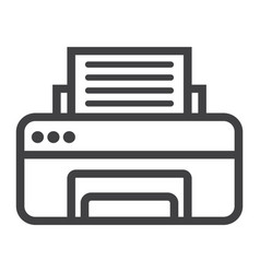 printer line icon fax and office vector image