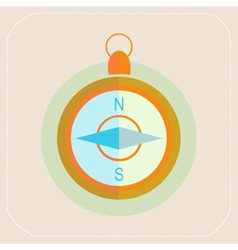 TOURISM COMPASS FLAT ICON vector image vector image