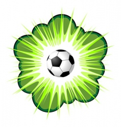 soccer ball and blow up vector image vector image