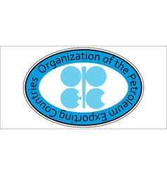 Sticker oil organization opec vector