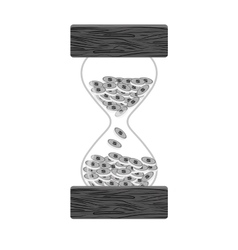 stop watch and hourglass icon design vector image