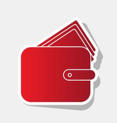 wallet sign new year reddish vector image