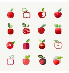 Apple logo templates set Elements for design vector image vector image