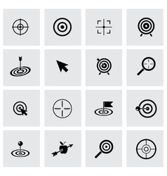black target icon set vector image vector image