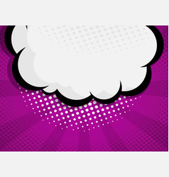 blank comic book pop art speech bubble vector image vector image