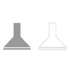 Exhaust hood set icon vector