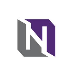 modern logo solution letter l n l vector image vector image