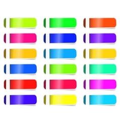 Empty Colorful label paper set sticker vector image