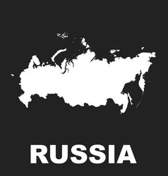 russia map icon flat russian federation sign vector image