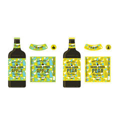 set of templates labels for hard cider vector image vector image