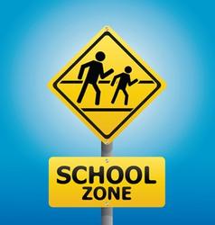 Traffic sign school warning vector