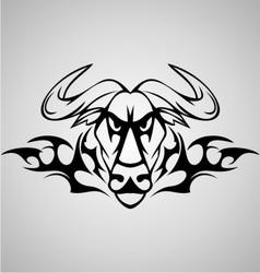 Tribal Buffalo vector image