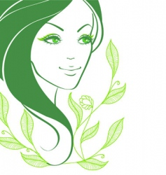 women face back vector image vector image