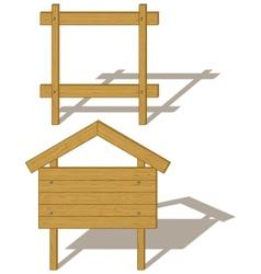 wooden billboards vector image vector image