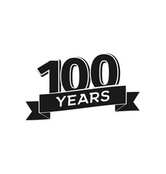 100 years anniversary logotype isolated vector image
