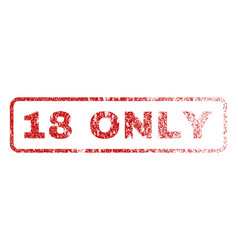 18 only rubber stamp vector image