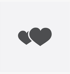 2 heart icon vector image