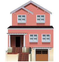 A big pink house vector