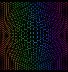 Abstract colorful octagons vector