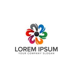 abstract flower logo multicolor logo design vector image
