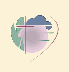 abstract religious logo vector image