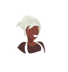 African american waitress in uniform face avatar vector