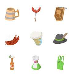 alcohol icons set cartoon style vector image