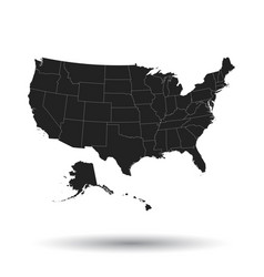 America map icon flat usa sign symbol with vector