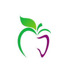 apple abstract organic food logo vector image