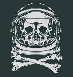 Astronaut skull vector
