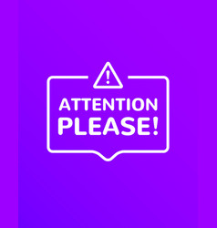 Attention information announcement vector