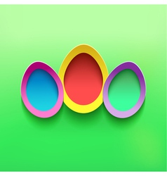 Background with colorful 3d Easter egg vector image