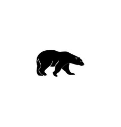 bear icon black on white background vector image