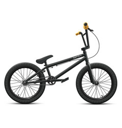 black bmx bicycle mockup - right side view vector image