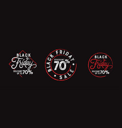 Black friday discount badge stamp pack vector