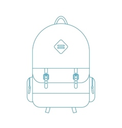 blue outline backpack vector image