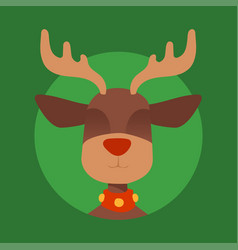 christmas reindeer character new year vector image
