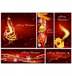 christmas tamplets vector image