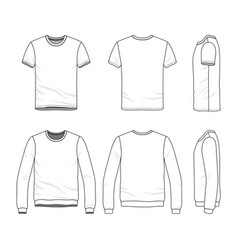 Clothing set of male shirt and sweatshirt vector