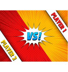 Comic duel colorful concept vector