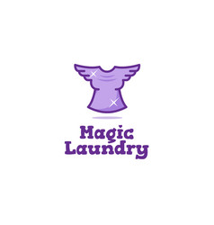 Creative laundry logo vector