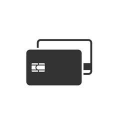 credit cards icon vector image