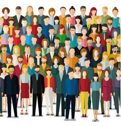crowd of abstract people vector image