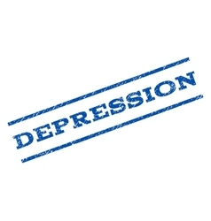 Depression watermark stamp vector