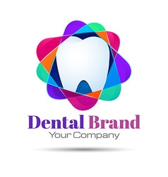 Design teeth logo element Crushing abstract vector