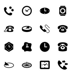 dial icons vector image